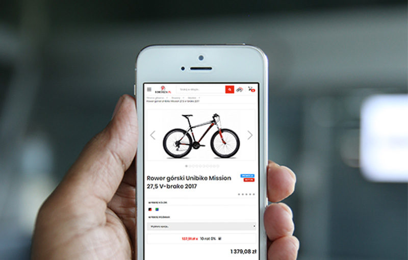 Sklep roweroza.pl smartphone