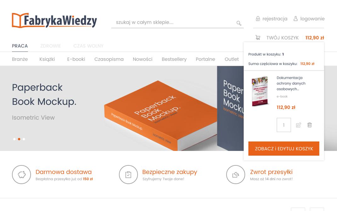 Fabryka Wiedzy platforma Magento - desktop