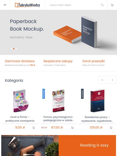 Fabryka Wiedzy platforma Magento - tablet