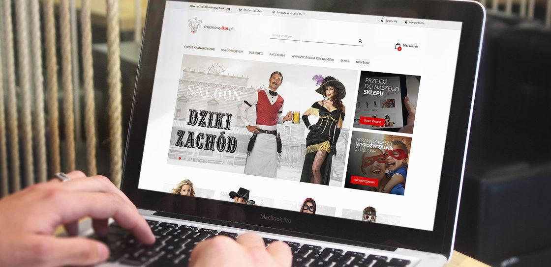 Wizualizacja sklepu Maskowy Bal na platformie Magento 2.