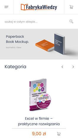 Fabryka Wiedzy platforma Magento - smartphone