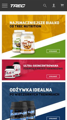 Trec Nutrition na Magento - podgląd na smartphone